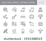 pet tracking line icons. vector ... | Shutterstock .eps vector #1931588015
