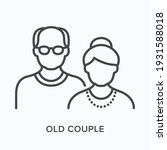 old couple flat line icon.... | Shutterstock .eps vector #1931588018