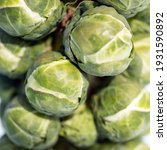 Closeup Of Brussels Sprouts In...