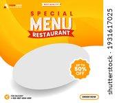 food menu and restaurant social ... | Shutterstock .eps vector #1931617025