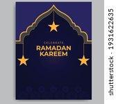 ramadan kareem template design. ... | Shutterstock .eps vector #1931622635