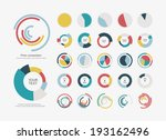 infographic elements pie chart... | Shutterstock .eps vector #193162496