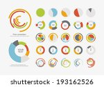 infographic elements pie chart... | Shutterstock .eps vector #193162526