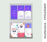 set of ui  ux  gui screens job... | Shutterstock .eps vector #1931634605