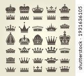 Crown Icons Set  Monarchy...