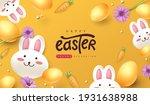 easter greeting card background ... | Shutterstock .eps vector #1931638988