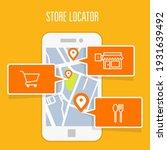 store locator tracker app and... | Shutterstock .eps vector #1931639492