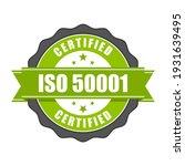 iso 50001 standard certificate... | Shutterstock .eps vector #1931639495