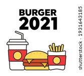 fast food menu poster. fast... | Shutterstock . vector #1931643185