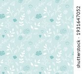 seamless texture with floral... | Shutterstock .eps vector #1931647052