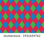 argyle pattern seamless. fabric ... | Shutterstock .eps vector #1931654762