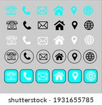 contact information icon... | Shutterstock .eps vector #1931655785