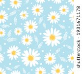 Seamless Pattern With Daisy...