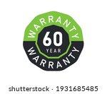 60 year warranty logo isolated... | Shutterstock .eps vector #1931685485
