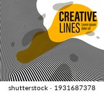 3d black and white lines in... | Shutterstock .eps vector #1931687378