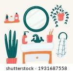 bathroom vector cartoon... | Shutterstock .eps vector #1931687558