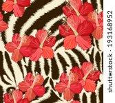 Seamless Background With Zebra...