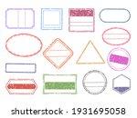 grunge stamp. blank geometric... | Shutterstock .eps vector #1931695058