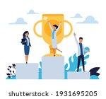 business success. cartoon...   Shutterstock .eps vector #1931695205