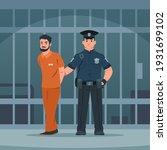 Policeman Arrest Thief. Cartoon ...