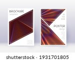 triangle cover design template... | Shutterstock .eps vector #1931701805