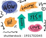 flat vector colored bubbles set ...   Shutterstock .eps vector #1931702045