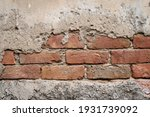 old grunge cracked wall... | Shutterstock . vector #1931739092