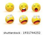 emoji. emotion icons vector... | Shutterstock .eps vector #1931744252