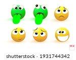 emoji icon set. vector... | Shutterstock .eps vector #1931744342