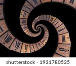 Infinity Time Spiral  Antique...