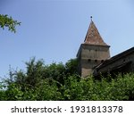 UNESCO World Heritage. Medieval Walls. The Furriers´  Tower in the historic town of Sighisoara. Transylvania. Romania.