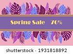 Spring Sale Banner Design...