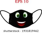 mask of face with emoji. keep... | Shutterstock .eps vector #1931819462