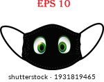 mask of face with emoji. keep... | Shutterstock .eps vector #1931819465