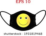 mask of face with emoji. keep... | Shutterstock .eps vector #1931819468