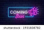 coming soon neon sign  bright...   Shutterstock .eps vector #1931838782