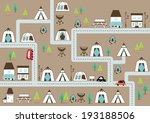 campground map in grey | Shutterstock .eps vector #193188506