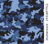 Pixel Blue Military Camouflage  ...