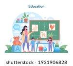 nursery teacher. professional...   Shutterstock .eps vector #1931906828