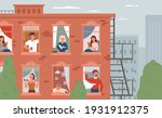 stay home  daily routine... | Shutterstock .eps vector #1931912375