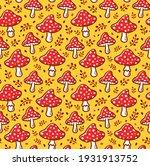 Amanita Mushroom Seamless...
