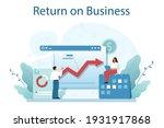 return on business concept.... | Shutterstock .eps vector #1931917868