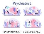 psychiatrist concept set.... | Shutterstock .eps vector #1931918762