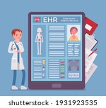 electronic health record  ehr... | Shutterstock .eps vector #1931923535