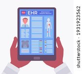 electronic health record  ehr...   Shutterstock .eps vector #1931923562