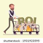 return on investment  roi ... | Shutterstock .eps vector #1931923595