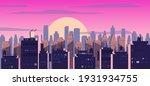 sunset or sunrise city ... | Shutterstock .eps vector #1931934755
