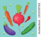 set watercolor food healthy...   Shutterstock .eps vector #1931939765