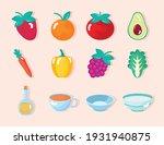 twelve healthy food set icons   Shutterstock .eps vector #1931940875