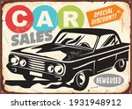 car sales vintage commercial... | Shutterstock .eps vector #1931948912